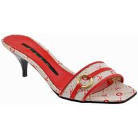 Schoenen Dames Leren slippers Keys  Rood