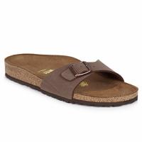 Schoenen Dames Leren slippers Birkenstock MADRID Bruin