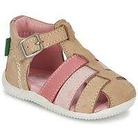 Schoenen Meisjes Sandalen / Open schoenen Kickers BIGFLY Beige / Roze