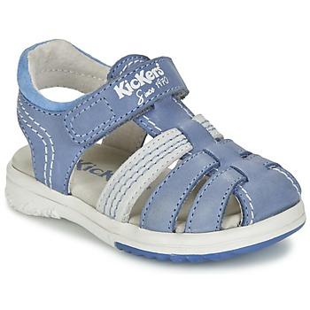 Schoenen Jongens Sandalen / Open schoenen Kickers PLATINIUM Blauw