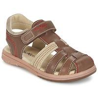 Schoenen Jongens Sandalen / Open schoenen Kickers PLATINIUM Bruin