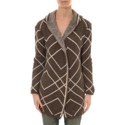 Textiel Dames Vesten / Cardigans De Fil En Aiguille GILET CAPUCHE ZINKA 2135 TAUPE Bruin