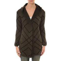 Textiel Dames Vesten / Cardigans De Fil En Aiguille GILET CAPUCHE ZINKA  2135 KAKI Beige