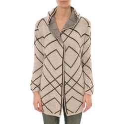 Textiel Dames Vesten / Cardigans De Fil En Aiguille GILET CAPUCHE ZINKA  2135 BEIGE Groen