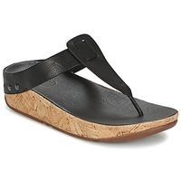 Schoenen Dames Teenslippers FitFlop IBIZA CORK Zwart