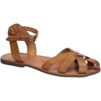 Schoenen Dames Sandalen / Open schoenen Gianluca - L'artigiano Del Cuoio 503 D CUOIO GOMMA Cuoio
