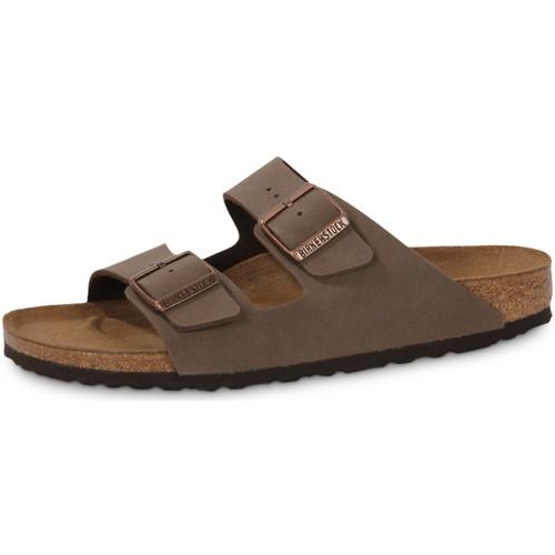 Schoenen Heren Leren slippers Birkenstock Arizona Mocca Noir