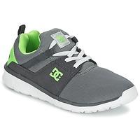 Schoenen Jongens Lage sneakers DC Shoes HEATHROW Grijs / Wit / Groen