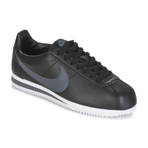 reputable site 89aa4 ec3d7 Schoenen Heren Lage sneakers Nike CLASSIC CORTEZ LEATHER Zwart  Grijs