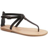 Schoenen Dames Sandalen / Open schoenen Gianluca - L'artigiano Del Cuoio 582 D NERO LGT-CUOIO nero