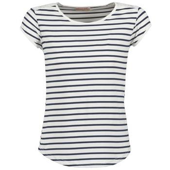 Textiel Dames T-shirts korte mouwen Moony Mood EIYA Wit / Blauw