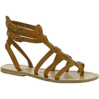 Schoenen Dames Sandalen / Open schoenen Gianluca - L'artigiano Del Cuoio 506 D CUOIO LGT-CUOIO Cuoio