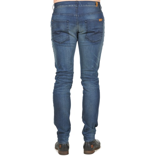 7 for all Mankind RONNIE ELECTRIC MIND Blauw / Medium - Gratis levering  Textiel Skinny jeans Heren