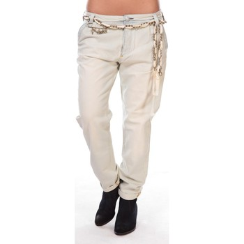 Textiel Dames 5 zakken broeken Rich & Royal Rich&royal Pantalon Amalfi 05Q990 Beige