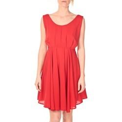 Textiel Dames Korte jurken Aggabarti Aggarbati Robe Bretelles 121084 Cerise Rood