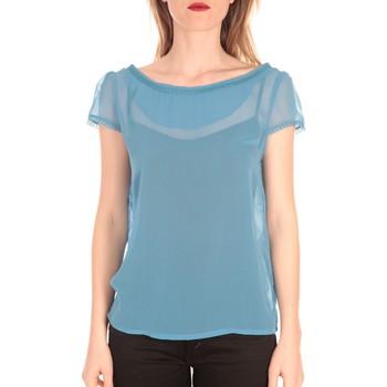 Textiel Dames T-shirts korte mouwen Aggabarti t-shirt voile121072 bleu Blauw