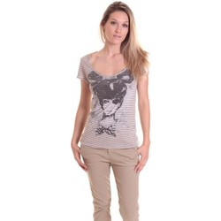 Textiel Dames T-shirts korte mouwen Rich & Royal T-shirt 11q442 Beige/Taupe Beige
