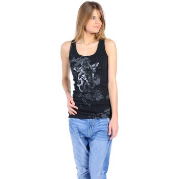 Textiel Dames Mouwloze tops Rich & Royal T-shirt 11q436 Noir Zwart