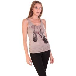 Textiel Dames Mouwloze tops Rich & Royal Débardeur 11q421 Taupe Bruin