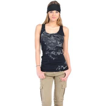Textiel Dames Mouwloze tops Rich & Royal Débardeur 11q435 Noir Zwart