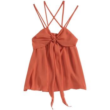Textiel Dames Mouwloze tops Aggabarti Top 121068 Orange Oranje