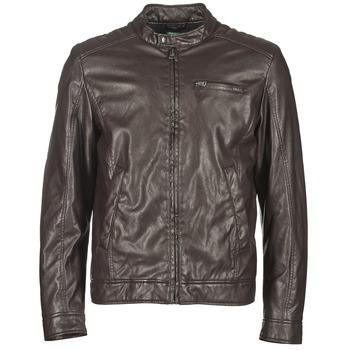 Textiel Heren Leren jas / kunstleren jas Benetton HOULO Bruin