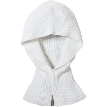 Accessoires Dames Sjaals Petit Bateau Col Capuche Femme en côte perlée Blanc Lait Wit