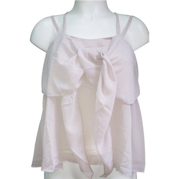 Textiel Dames Mouwloze tops Aggabarti Top 121068 Écru Beige