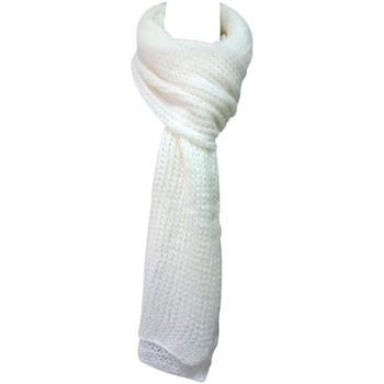 Accessoires Dames Sjaals De Fil En Aiguille Écharpe Santa Blanc Wit