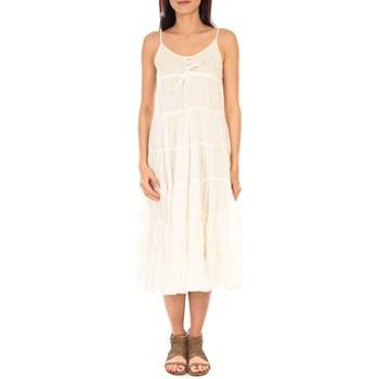Textiel Dames Lange jurken Vision De Reve Vision de Rêve Robe 7097 Écru Beige