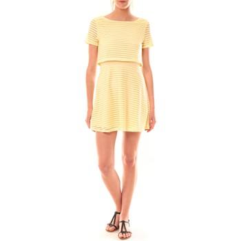 Textiel Dames Korte jurken La Vitrine De La Mode Robe LC-0461 By La Vitrine Jaune Geel