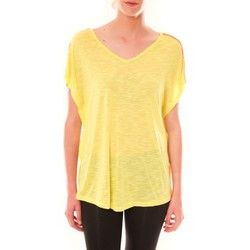 Textiel Dames T-shirts korte mouwen Dress Code Top M-9388  Jaune Geel
