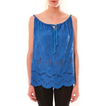 Textiel Dames Mouwloze tops Dress Code Debardeur HS-1019  Bleu Blauw