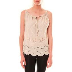 Textiel Dames Mouwloze tops Dress Code Debardeur HS-1019  Beige Beige