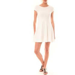 Textiel Dames Korte jurken La Vitrine De La Mode Robe LC-0421 By La Vitrine Blanche Wit