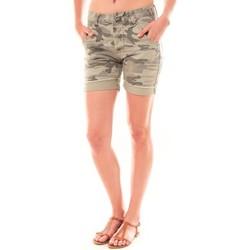 Textiel Dames Korte broeken / Bermuda's Dress Code Bermuda RX911  Kaki Groen