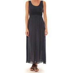 Textiel Dames Lange jurken La Vitrine De La Mode Robe Z1392 By La Vitrine Marine Blauw