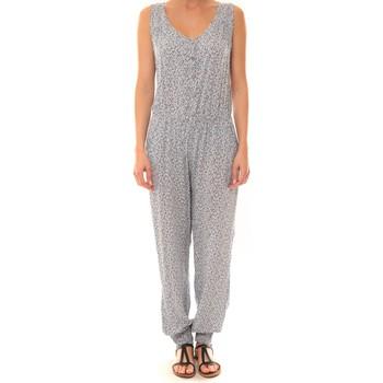 Textiel Dames Jumpsuites / Tuinbroeken Dress Code Combinaison Z073  Bleue Blauw