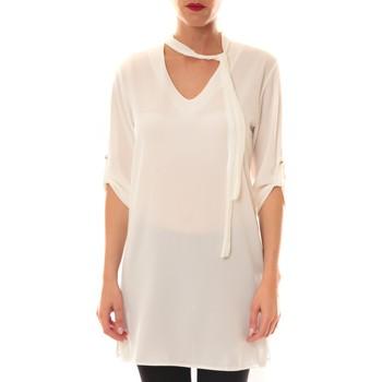 Textiel Dames Tops / Blousjes La Vitrine De La Mode Robe 156 By La Vitrine Blanche Wit