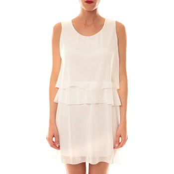 Textiel Dames Korte jurken La Vitrine De La Mode Robe TROIS By La Vitrine Blanche Wit