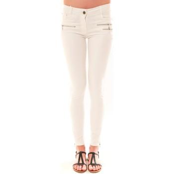 Textiel Dames 5 zakken broeken La Vitrine De La Mode Pantalon S2012 By La Vitrine Blanc Wit