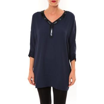 Textiel Dames Tunieken La Vitrine De La Mode By La Vitrine Tunique LW15002 marine Blauw