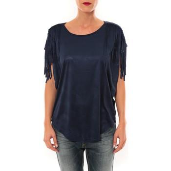Textiel Dames T-shirts korte mouwen Nina Rocca Top C1844 marine Blauw