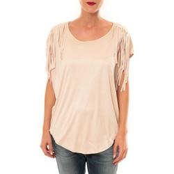 Textiel Dames T-shirts korte mouwen Nina Rocca Top C1844 beige Beige