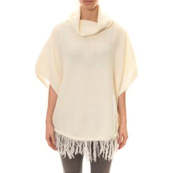 Textiel Dames Vesten / Cardigans La Vitrine De La Mode Poncho Blanc Wit