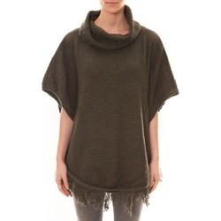 Textiel Dames Truien La Vitrine De La Mode Poncho Kaki Groen