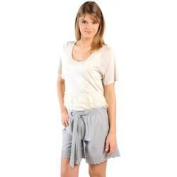 Textiel Dames T-shirts korte mouwen Gat Rimon TOP LYLY ECRU Beige