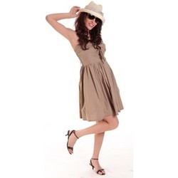 Textiel Dames Korte jurken Aggabarti ROBE NOEUD 111029 BEIGE Beige