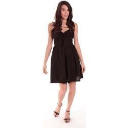 Textiel Dames Korte jurken Aggabarti ROBE NOEUD 111029 NOIRE Zwart