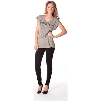 Textiel Dames T-shirts korte mouwen Rich & Royal Tee-shirt Yes 13q424 Gris Grijs